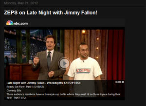Zeps on Late Night with Jimmy Fallon!